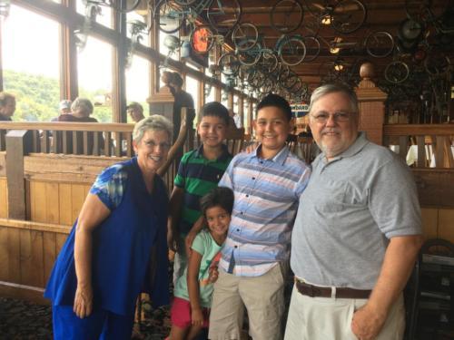 Famous Gaston's Resort lunch with grandchildren (25 minutes away)