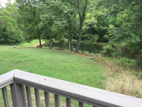 Pond view from porch